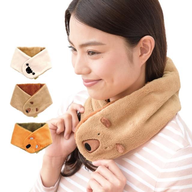 【日本SHF】可愛動物保暖圍巾 可放暖暖包(三款造型可選)