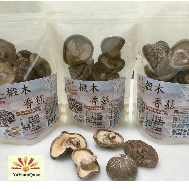 【亞源泉】埔里高山椴木香菇80g-大朵(椴木香菇有柄捲彎形)
