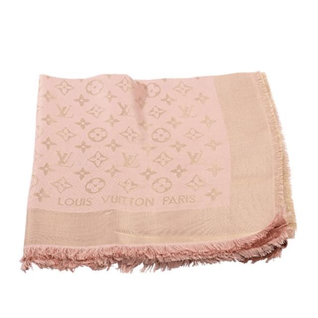 【Louis Vuitton 路易威登】M72046 Monogram Denim 圍巾(淺粉色)