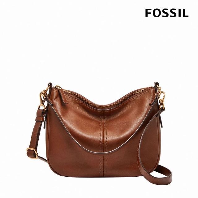 【FOSSIL】Jolie 咖啡色真皮斜背包 ZB7716200