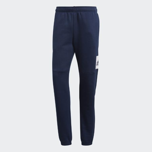 【adidas官方旗艦館】ESSENTIALS 標誌長褲 男(BQ9565)