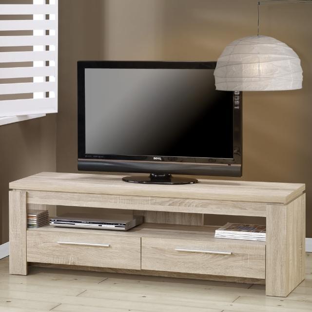 【歐登】5尺雙抽電視櫃-3D木紋-淺木色(視聽櫃/客廳櫃)