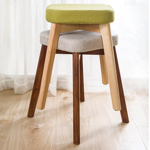 【HappyLife】實木腳化妝椅/椅凳/餐椅 YV9762(椅凳 凳子 椅子 靠腳凳)