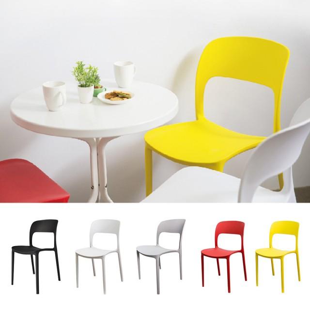 【YOI家俱】特爾尼餐椅 戶外椅/塑料椅/休閒椅 5色可選(YBD-8077)