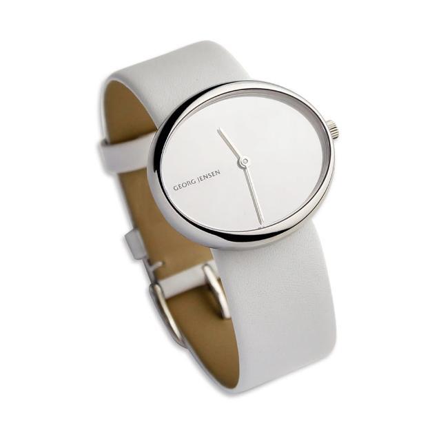 【Georg Jensen 喬治傑生】Georg Jensen 喬治傑生  Vivianna#323 白皮革手錶