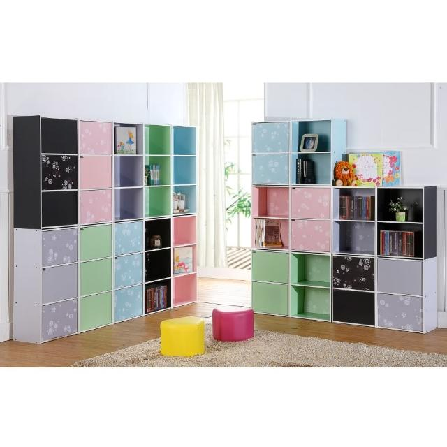 【EASY HOME】花系列三層開放式收納櫃(五色可選)