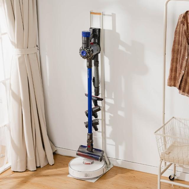 【樂嫚妮】多功能吸塵器/掃地機器人 收納架 Dyson V11 Samsung直立式 掛架 手持式(Dyson LG 多品牌適用)
