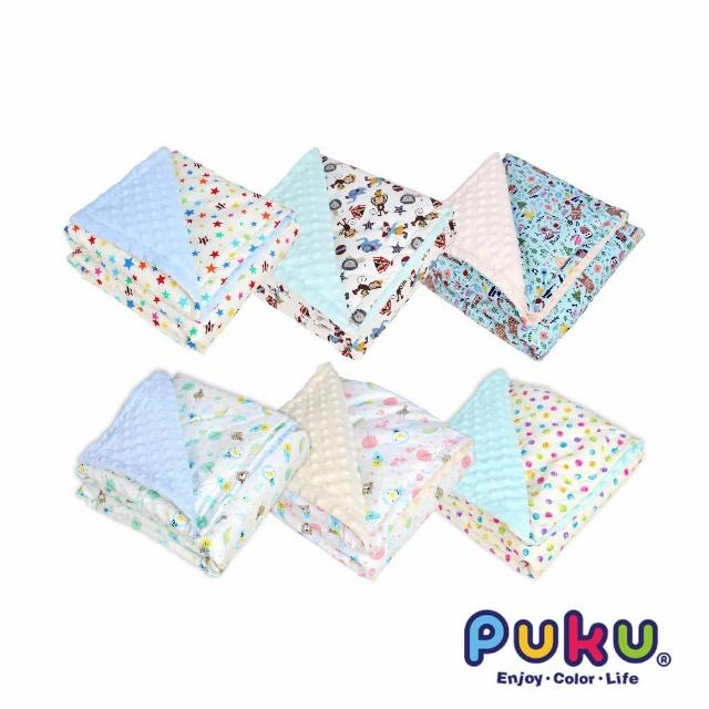 【PUKU 藍色企鵝】薄棉樂豆毯禮盒80*120cm(滿天星/音樂家/馬戲團/筆刷點/企鵝水/企鵝粉)