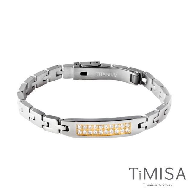【TiMISA】永恆真愛 純鈦鍺手鍊(細版-金色)
