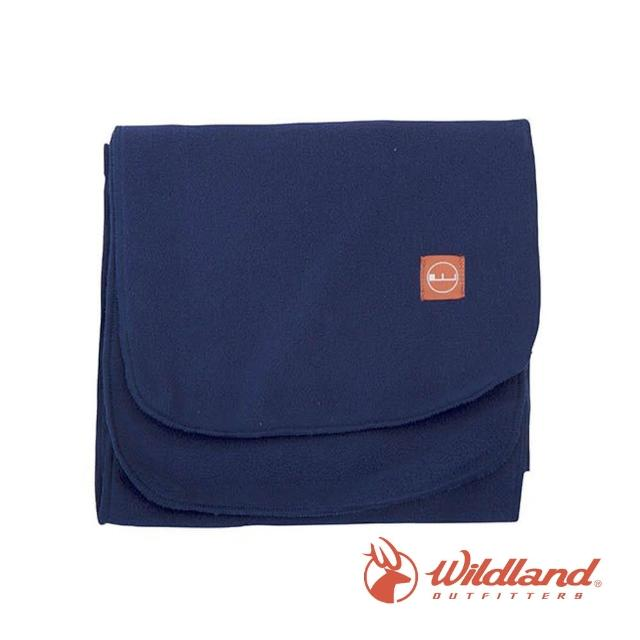【Wildland 荒野】中性 輕柔PILE保暖圍巾-深藍 W2010-72(禦寒保暖/戶外休閒/保暖圍巾/輕柔圍巾/圍巾)