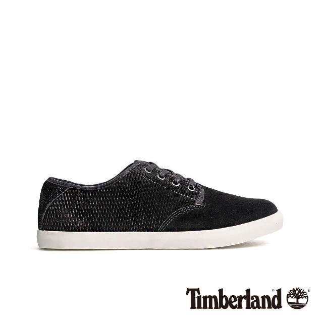 【Timberland】女款黑色正絨面皮革休閒鞋(A1WX5001)