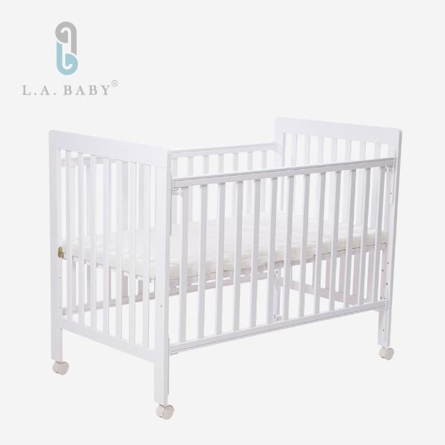 【L.A. Baby】密西根三合一嬰兒大床(白色 大床 120cmx65cm)