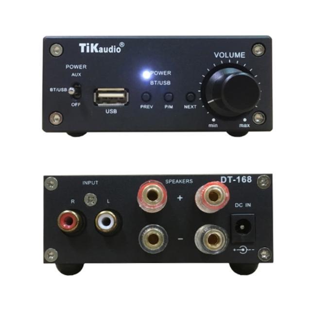 【TiKaudio】DT-168(迷你擴大機 金屬外殼. USB.藍芽播放. D類擴大機)