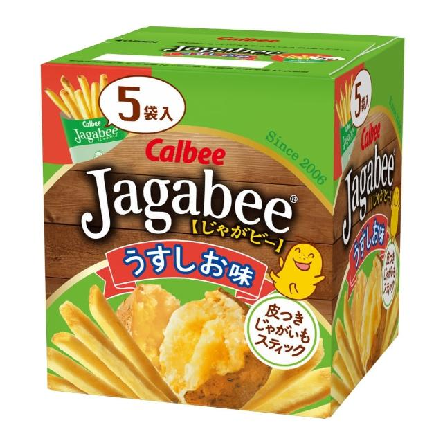 【Calbee 卡樂比】日本加卡比薯條-鹽味(16gX5袋)