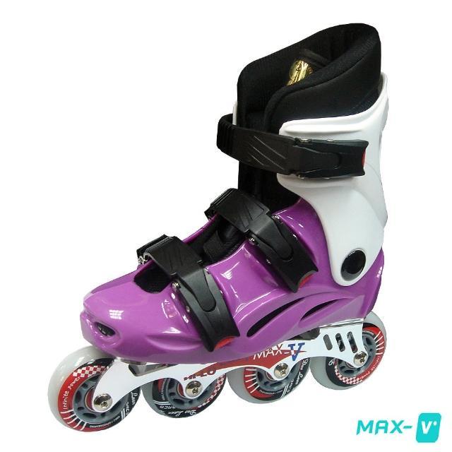 【DLD】V-MAX 鋁合金直排輪(紫白)