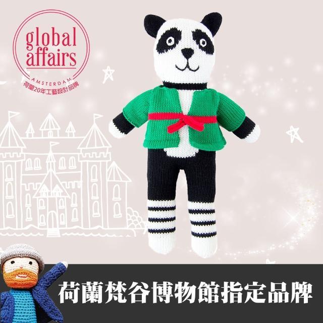 【global affairs】童話手工編織安撫玩偶-36cm(功夫熊貓)