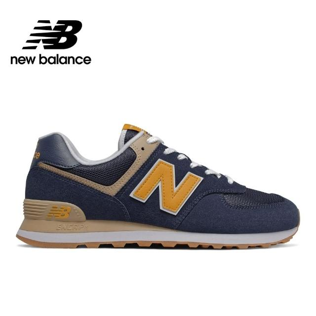 【NEW BALANCE】NB 復古休閒鞋 男鞋/女鞋 深藍 ML574SPF-D楦 運動 休閒 潮流 時尚