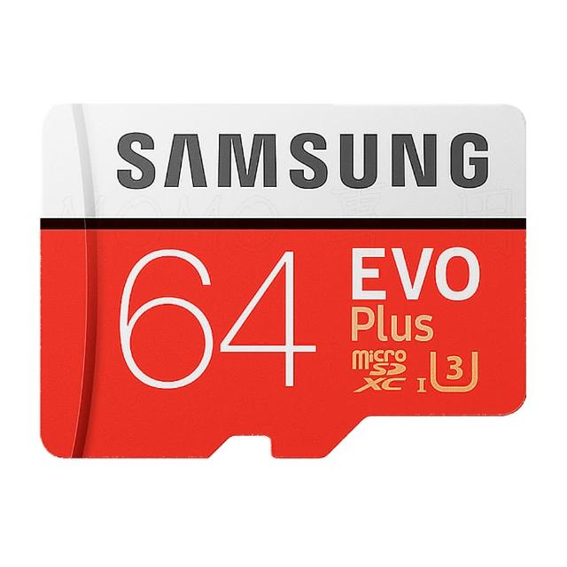 【SAMSUNG 三星】EVO PLUS microSDXC 64GB U3 記憶卡(平行輸入)