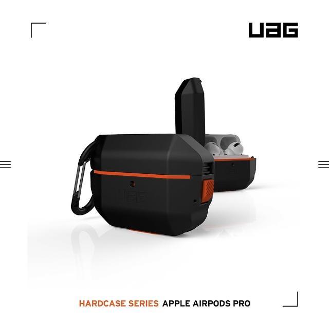 【UAG】AirPods Pro 耐衝擊防水防塵硬式保護殼-黑(UAG)