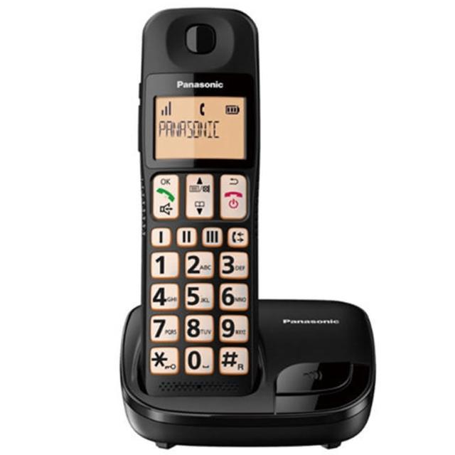 【Panasonic 國際牌】KX-TGE110TWB(大螢幕.大按鍵.助聽功能數位無線電話)