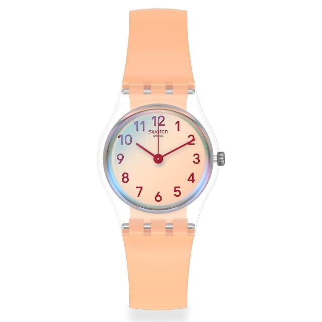 【SWATCH】菁華系列手錶 CASUAL PINK 自在粉紅(25mm)