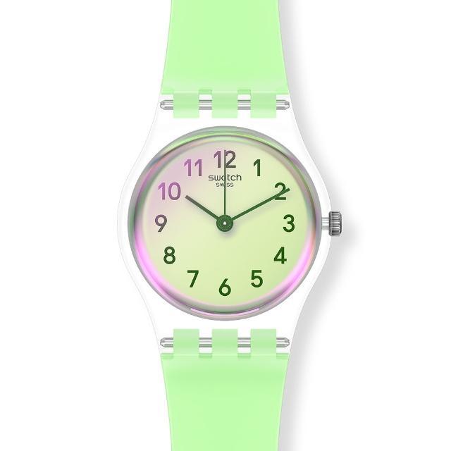 【SWATCH】菁華系列手錶 CASUAL GREEN 自在嫩綠(25mm)