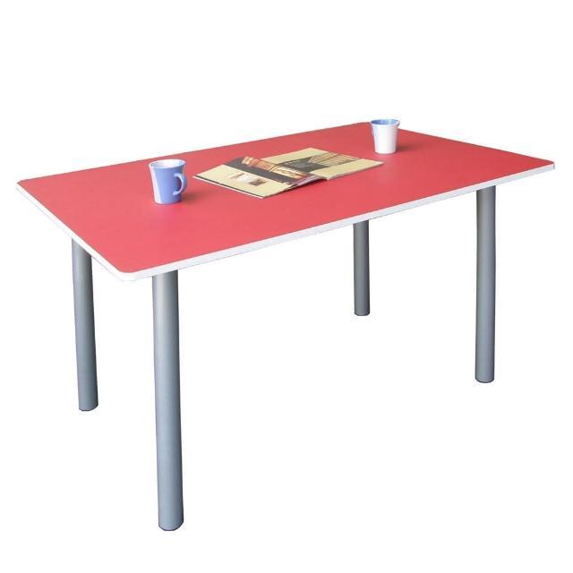 【美佳居】桌面(深60x寬120/公分)工作桌/書桌/電腦桌/會議桌(紅白色)
