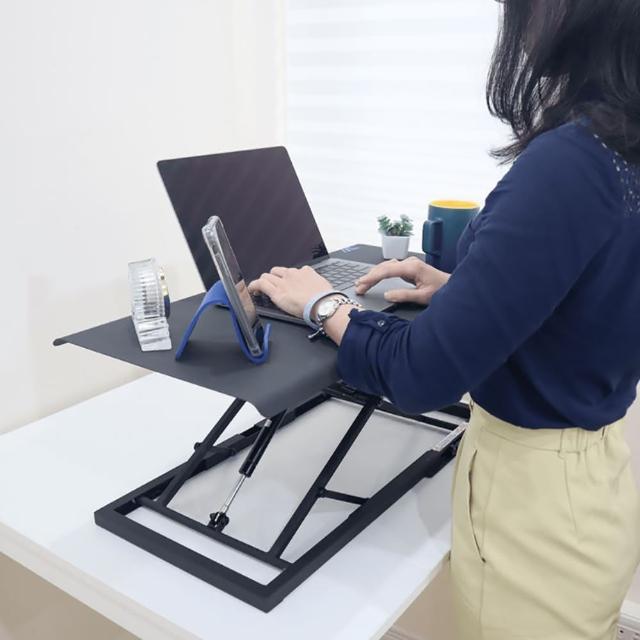 【aka】筆電型坐站升降桌(筆電桌/電腦桌/站立桌/摺疊桌/工作桌/氣壓/露營/野餐)
