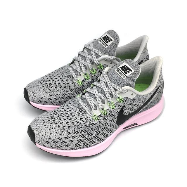 【NIKE 耐吉】WMNS NIKE AIR ZOOM PEGASUS 35 灰粉-942855011(女慢跑鞋)