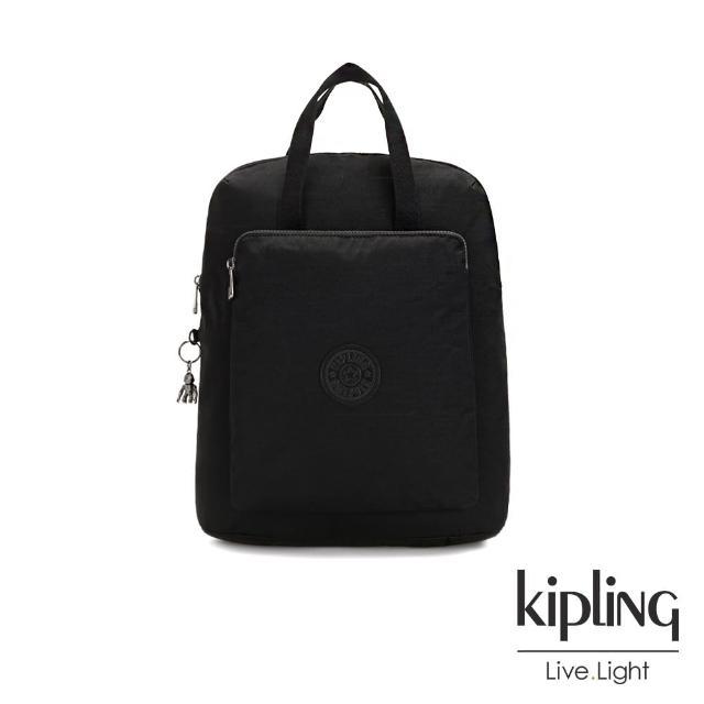 【KIPLING】極致低調黑手提後背電腦公事包-KAZUKI