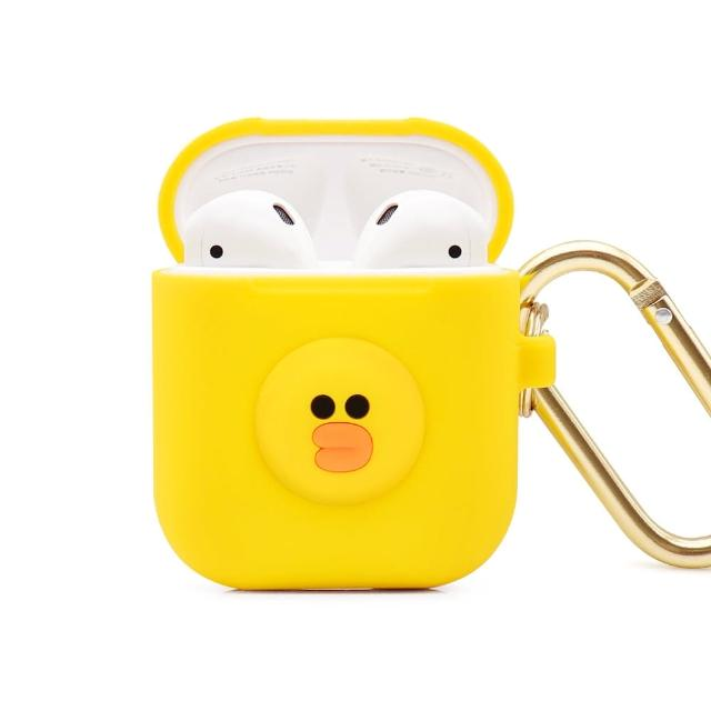 【GARMMA】LINE FRIENDS AirPods 1&2代藍牙耳機盒保護套 莎莉