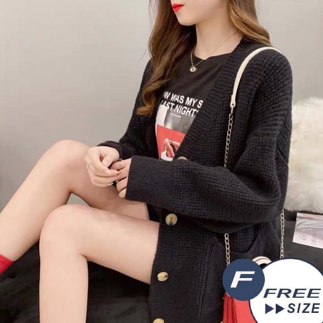 【LANNI 藍尼】現貨 粗毛線中長針織外套-6色(寬鬆版型)