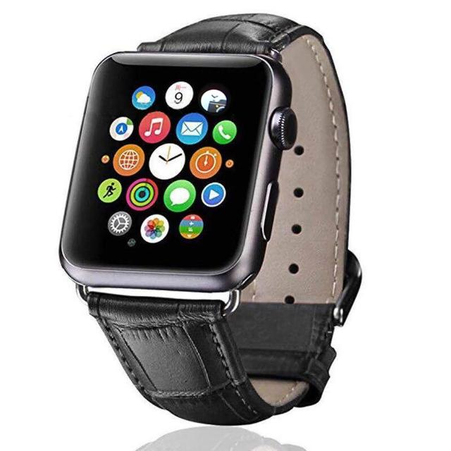 【IN7】鱷魚紋系列 Apple Watch 手工真皮錶帶 42mm/44mmm(Apple Watch 42mm/44mm)