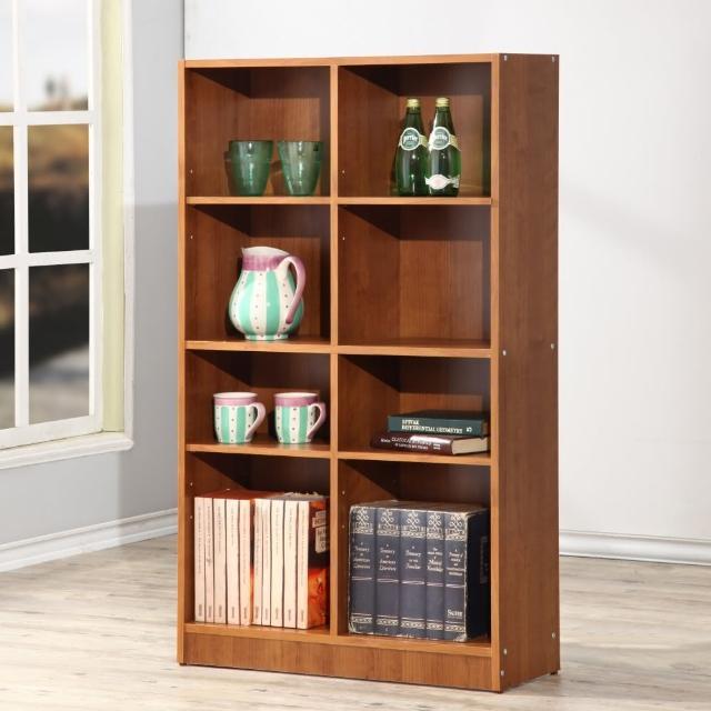 【EASY HOME】實心八格多功能書櫃