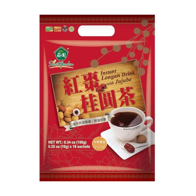 【薌園】紅棗桂圓茶-紅潤好氣色即溶冷熱飲(10G*18包)