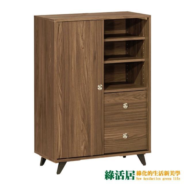 【綠活居】賽露絲 時尚2.5尺單門二抽鞋櫃/玄關櫃