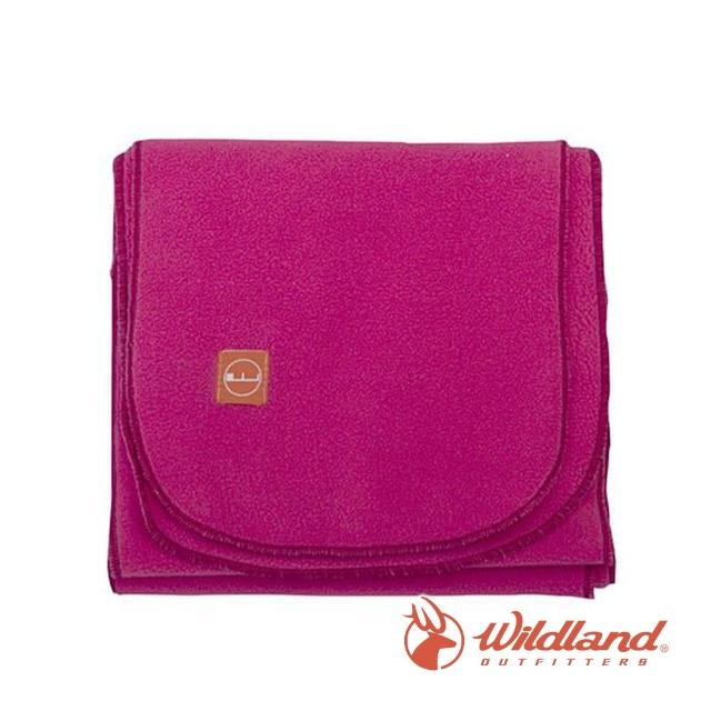 【Wildland 荒野】中性 輕柔PILE保暖圍巾-桃紅 W2010-09(禦寒保暖/戶外休閒/保暖圍巾/輕柔圍巾/圍巾)