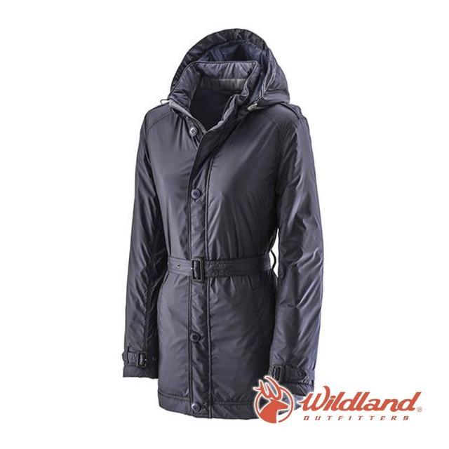 【Wildland 荒野】女 輕量杜邦棉防風防潑外套-深藍 0A22903-72(防風外套/外套/保暖外套/連帽外套)