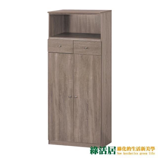【綠活居】帕迪 現代風2尺二門二抽中鞋櫃/玄關櫃