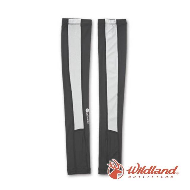 【Wildland 荒野】中性 開洞抗UV透氣袖套-深灰 W1801-93(戶外/登山/抗UV/防曬/袖套)