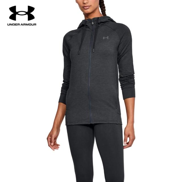 【UNDER ARMOUR】UA 女 Featherweight Fleece 連帽外套 1316679-001(黑)