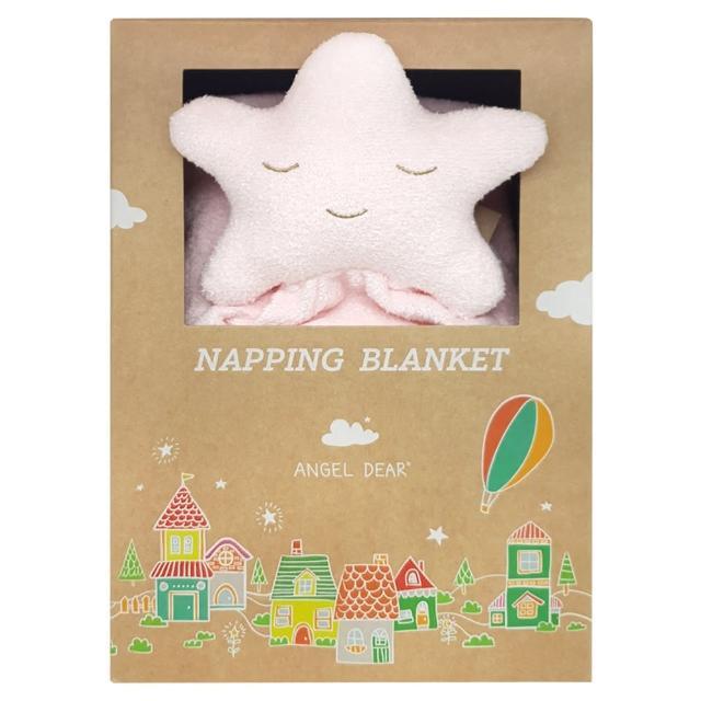 【Angel Dear】大頭動物嬰兒毛毯禮盒(粉紅小星星)