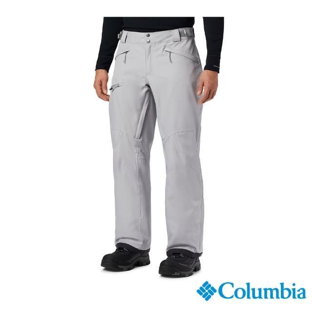 【Columbia 哥倫比亞】男款-Omni-HEAT防水鋁點保暖雪褲-灰色(UWE12700GY / 保暖.防水.機能)