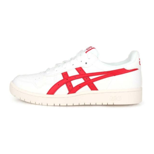 【asics 亞瑟士】JAPAN S 男休閒運動鞋-慢跑 亞瑟士 復古 白紅(1191A212-100)