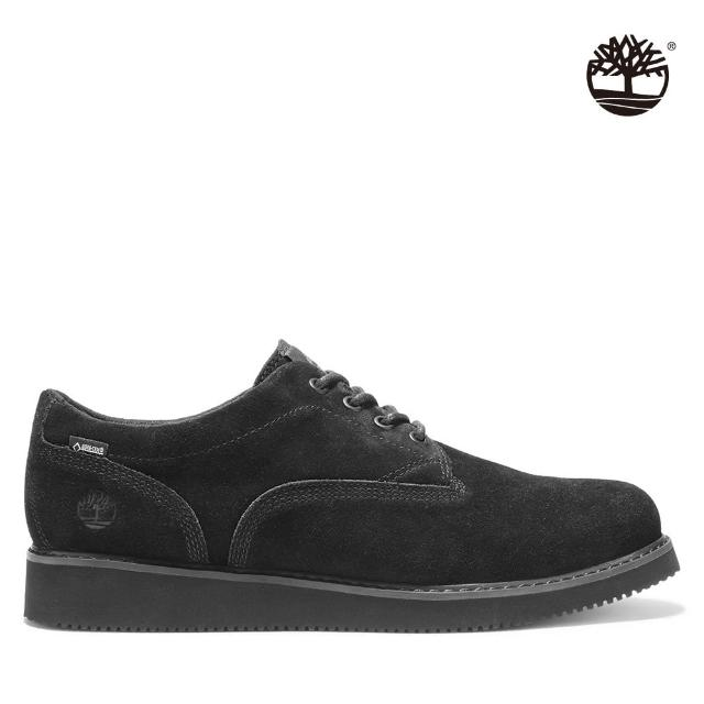 【Timberland】男款黑色絨面革休閒鞋(A2DX3015)