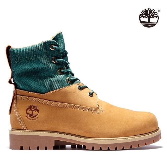 【Timberland】男款小麥黃磨砂革休閒中筒靴(A2D6U231)