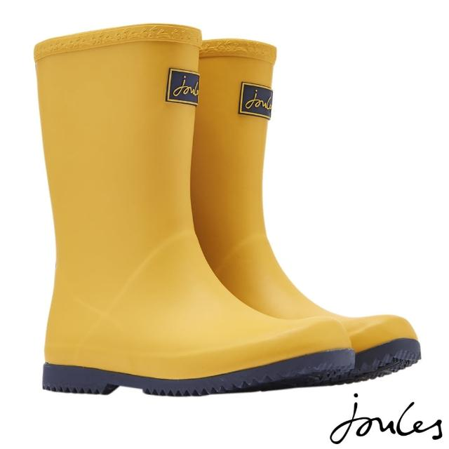 【Joules】童 Roll Up Welly 防水 捲筒 雨鞋 雨靴(古典黃)