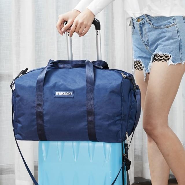 【WEEKEIGHT】運動型多功能乾濕分離設計手提肩背旅行袋/運動背包(大/行李箱拉桿適用)