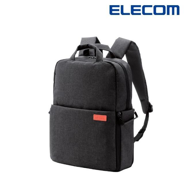 【ELECOM】帆布多功能後背包S041-黑(DGB-S041BK)
