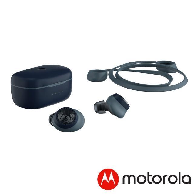 【Motorola】運動型真無線藍牙耳機Verve Buds 200(皇家藍)